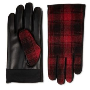 Isotoner SleekHeat Faux-Leather Driving Gloves L